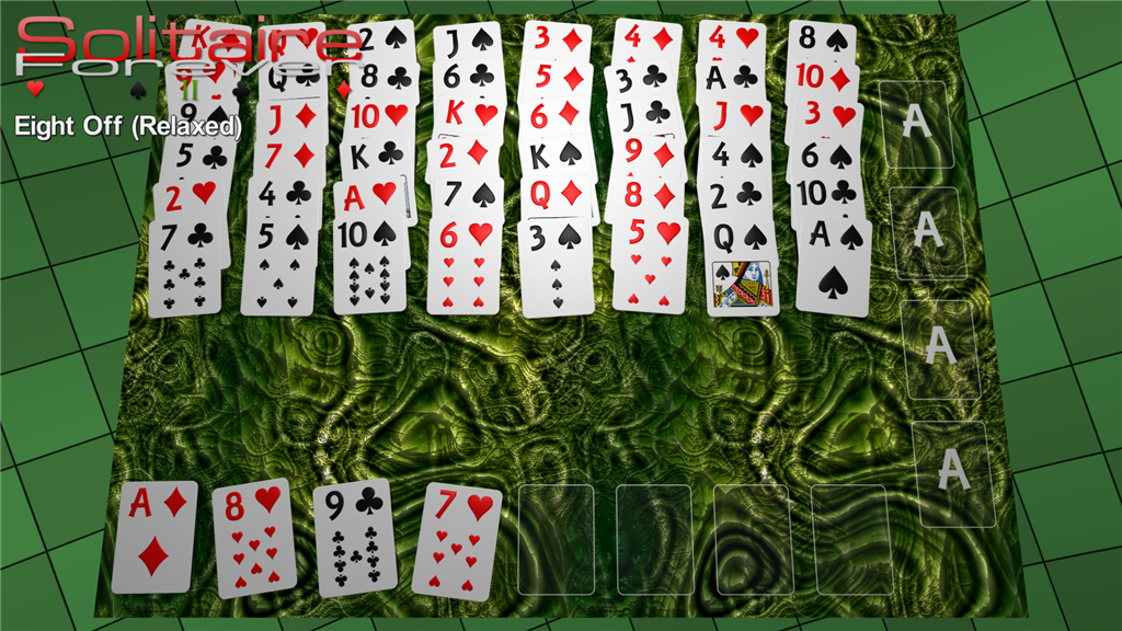 Eight Off (Relaxed) solitaire
