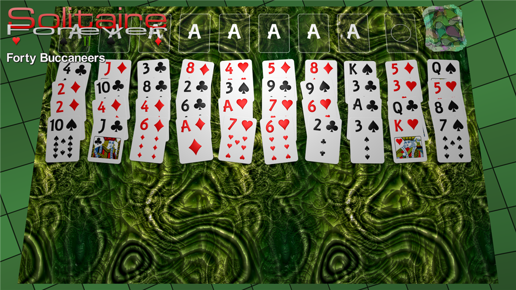 Forty Buccaneers solitaire
